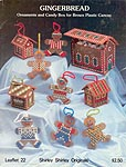 Shirley Shirley Gingerbread Ornaments and Candy Box for Brown Plastic Canvas
