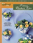 TNS Plastic Canvas Folded Basket Trio