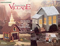 Plastic Canvas! Tissue Cover Village