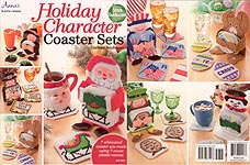 Annie's Plastic Canvas Holiday Character Coaster Sets