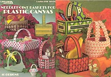 Leisure Arts Needlepoint Baskets For Plastic Canvas