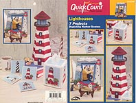 TNS Quick Count Plastic Canvas Lighthouses