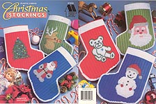 Annie's Attic Plastic Canvas Christmas Stockings