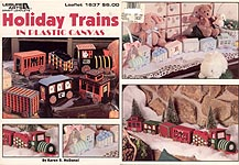 LA Holiday Trains in Plastic Canvas