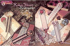Annie Potter Presents Plastic Canvas Ribbon Flowers Bookmarks