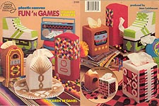 ASN Plastic Canvas Fun 'n Games Tissue Box Covers