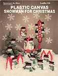 Needlecraft Ala Mode Plastic Canvas Snowman for Christmas