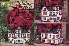 Annie Potter Presents Plastic Canvas Holiday House Planter