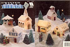 Annie's Attic Plastic Canvas Winter Village