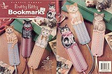 Annie's Attic Plastic Canvas Pretty Kitty Bookmarks