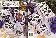 Annie's Attic Plastic Canvas Violets & Ivy Ensemble