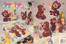 Annie's Attic Plastic Canvas Huggy Kissy Bears