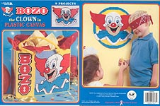 LA Bozo the Clown in Plastic Canvas
