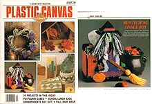 Plastic Canvas Corner, October 1990