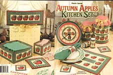 Annie's Attic Plastic Canvas Autumn Apples Kitchen Set