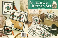 Annie's Attic Plastic Canvas Southwest Kitchen Set