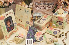 Annie's Attic Plastic Canvas Floral Bouquet Vanity Set