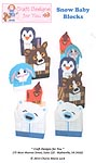 Craft Designs for You Plastic Canvas Snow Baby Blocks