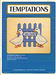 Temptations Plastic Canvas Geese On Fence Wall Hanging