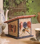 TNS Plastic Canvas Birdhouse Bank