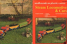 Plaid Ent. Needlework on Plastic Canvas: Steam Locomotive & Cars