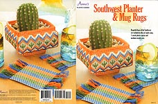 Annie's Plastic Canvas Southwest Planter & Mug Rugs