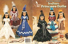 Annie's Attic Plastic Canvas Indian Princess Dolls