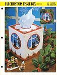 Annie's International Plastic Canvas Club: Cat Christmas Tissue Box