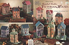 ASN Plastic Canvas Painted Ladies Victorian Houses in 10- Mesh