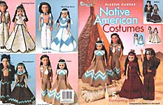 TNS Plastic Canvas Native American Costumes for 15 inch craft dolls