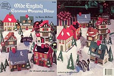 ASN Plastic Canvas Old English Christmas Shopping Village