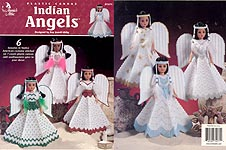 Annie's Attic Plastic Canvas Indian Angels for 15 inch craft dolls