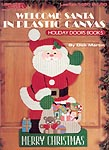 LA Welcome Santa in Plastic Canvas: Holday Doors Book