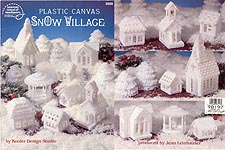 ASN Plastic Canvas Snow Village