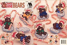 Annie's Attic Plastic Canvas Candy Cane Bears
