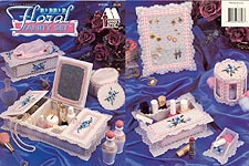 Annie's Attic Plastic Canvas Beaded Floral Vanity Set
