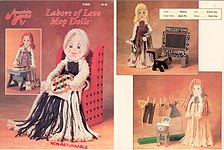 Annie's Attic Plastic Canvas Labors of Love Mop Dolls
