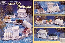 ASN Plastic Canvas North Pole Railroad