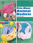 Annie's Attic Plastic Canvas Five- Hour Animal Baskets