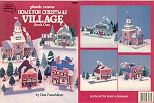 ASN Plastic Canvas Home For Christmas Village, Book One