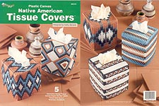 TNS Plastic Canvas Native American Tissue Covers