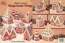 ASN Plastic Canvas Gingerbread Village