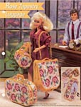 Annie's Fashion Doll Plastic Canvas Club: Rose Tapestry Luggage