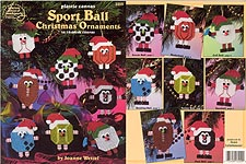 ASN Plastic Canvas Sport Ball Christmas Ornaments
