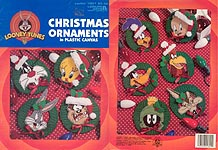 LA Looney Tunes Christmas Ornaments In Plastic Canvas