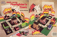 ASN Plastic Canvas Firefighter's Town