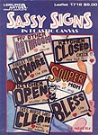 LA Sassy Signs in Plastic Canvas