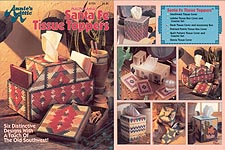 Annie's Attic Plastic Canvas Santa Fe Tissue Toppers