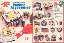 Annie's Attic Plastic Canvas Patriotic Accessories