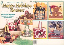 HWB Plastic Canvas Happy Holiday Baskets